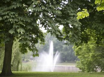 Fontein Herdenkingspark Westgaarde bomen