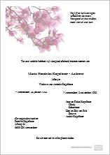 Voorbeeld rouwkaart Bloemen Basis