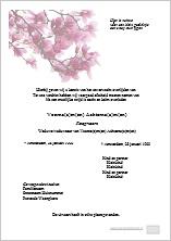 Digitale rouwkaart bloemen